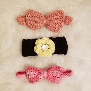 Other - 4/$20 3 pack of handmade baby/toddler headbands